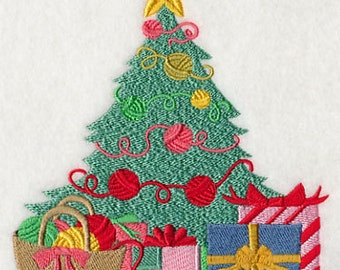 Crafty Christmas Tree Embroidered Flour Sack Hand/Dish Towel