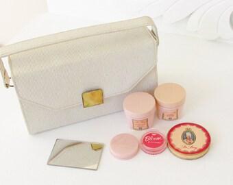 Vintage Hudnut DuBarry Make up Travel Purse Beauty Kit 1960s
