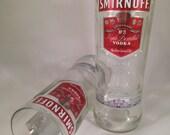 Smirnoff Vodka Recycled Bottle Glasses - Set of 2