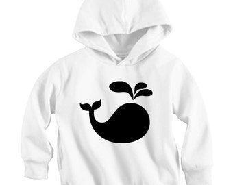 Whale Splash - Long sleeve Hoodie Shirt (Baby / Infant / Toddler / Children's)