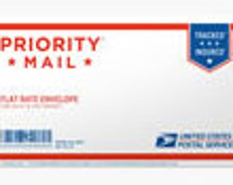 "PRIORITY MAIL Shipping Flat Rate in Padded Large Envelope 12-1/2"""" x 9-1/2"""