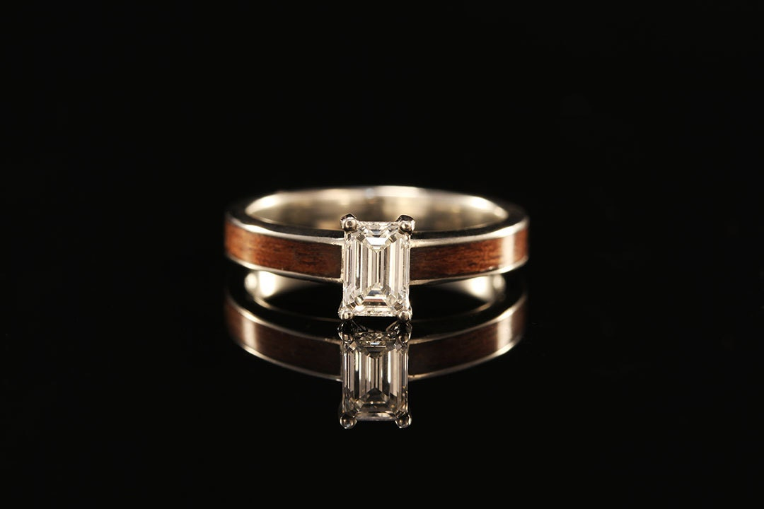 tiffany wood engagement ring zoom - Wood Wedding Ring