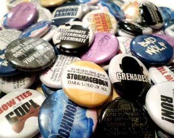 Doctor Who 1 inch Buttons