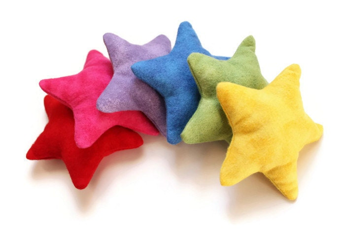 Star Shaped Rainbow Bean Bags Flannel Brights Children's