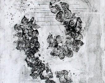 "Breeze - Collagraph Print - 16x20"""
