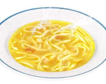 Chicken Noodle Soup Sick Get Well - Digital Image - Vintage Art Illustration - Instant Download