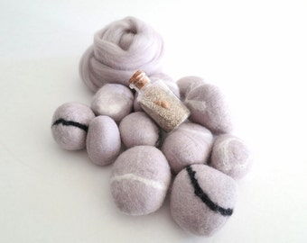 Pewter Merino Wool Roving, Wool Roving, Felting Wool, Needle Felting, Merino Roving, Needle Felting Wool, Merino Wool, Nuno Felting Wool