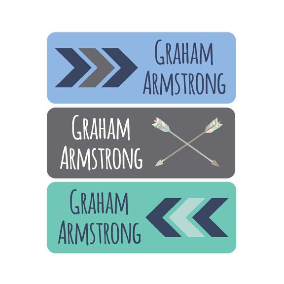 Boys Premium Name Labels: Name Labels Boy Waterproof Dishwasher Safe Clothing Tags