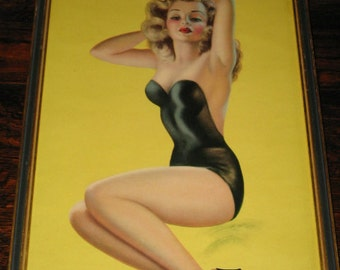 "DEVORSS PINUP PRINT, Billy DeVorss, ""Pose Please""  1930's-50's Pin Up"