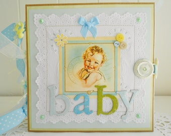 SALE  Baby Boy Paper Bag Keepsake Album