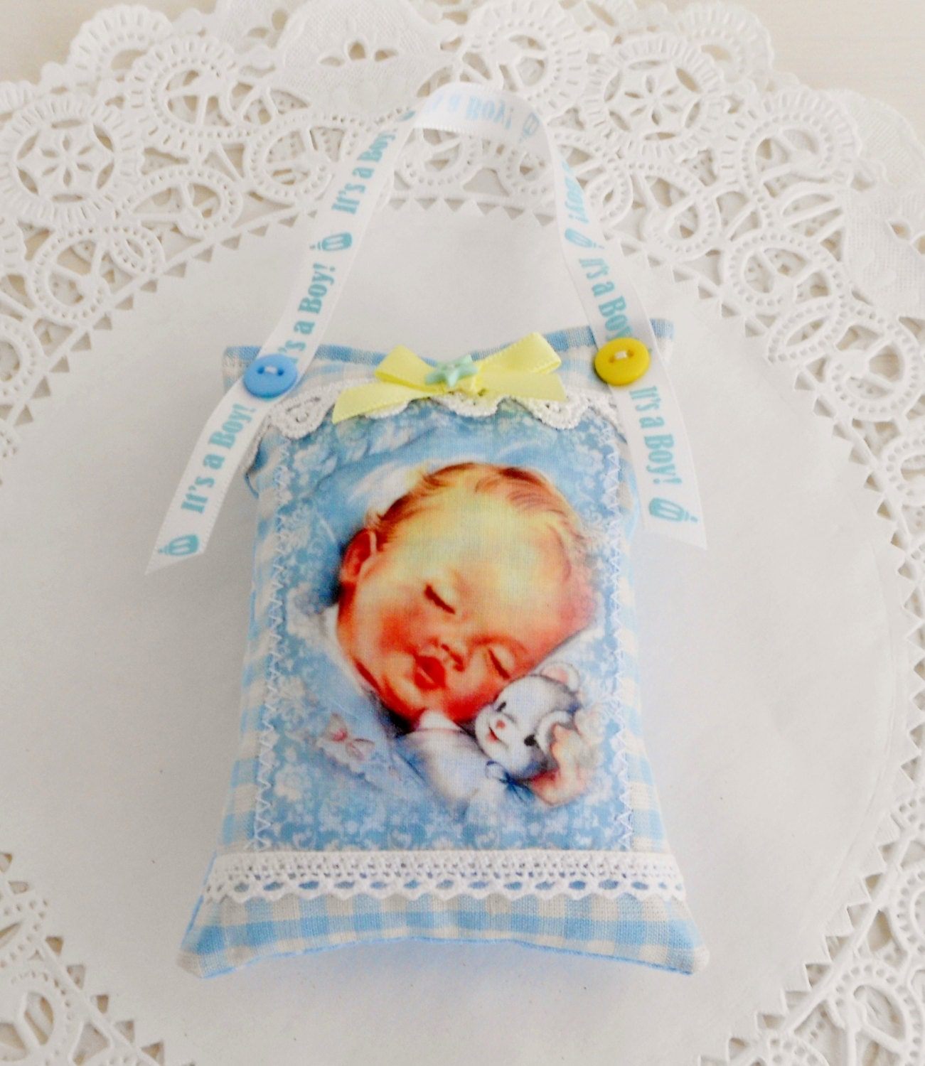New baby boy door hanger room decor for Baby boy door decoration
