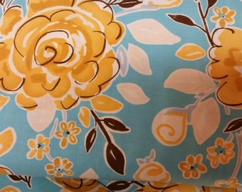 sale Darjeeling print  by Dena Designs from  Tea Garden collection for Free Spirit  blue 1/2 yrd or 1 yrd cotton quilt fabric