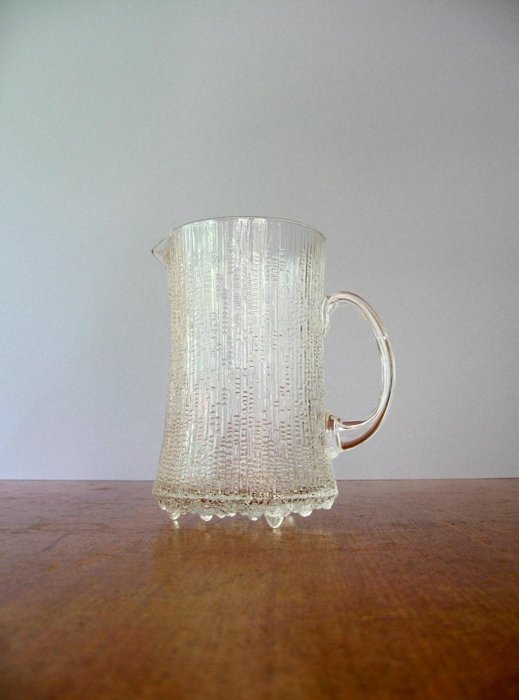 vintage iittala ultima thule pitcher tapio wirkkala ice. Black Bedroom Furniture Sets. Home Design Ideas
