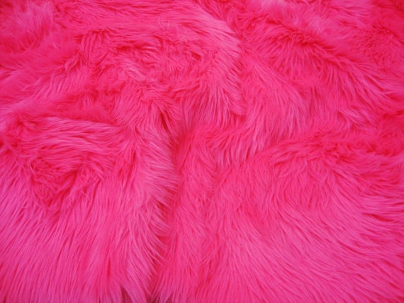 Faux Fur Pink Rug 3' x 5' New Premium Hot Pink Shag Fur Area Rug by ...