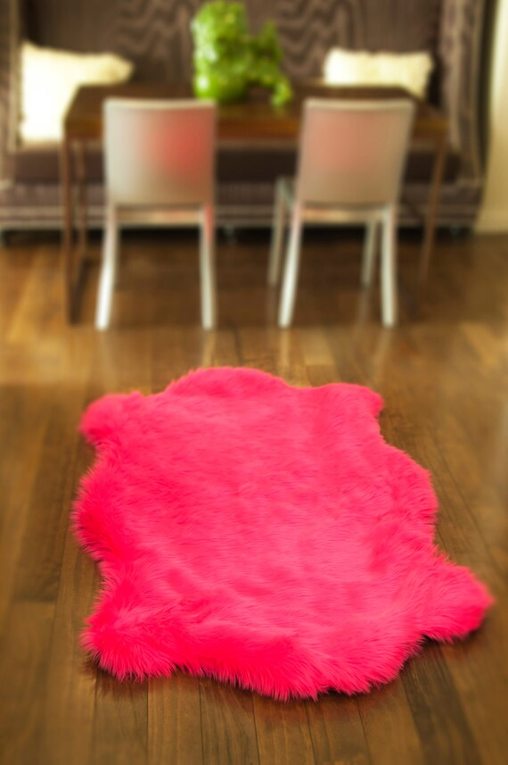 3 X 5 Hot Pink Teddy Bear Shag Fur Area Rug Nursery