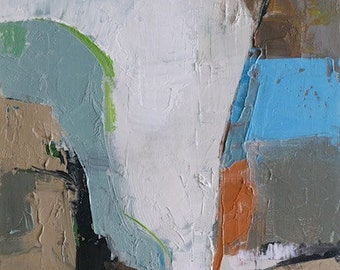 """Petrichor 96"""" Original oil landscape on canvas 9"""" x 12"""" x 1"""" Abstract, contemporary, red,blue,green, yellow  SALE!!!"""