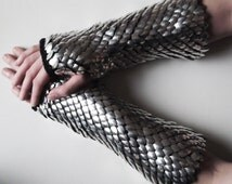 Scale mail gauntlets - made to order - dragon scales gloves