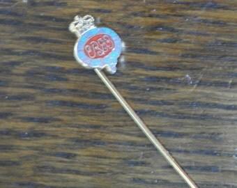 vintage ER royal enamel tie collar pin