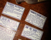 6 Antique Apothecary Medical Labels