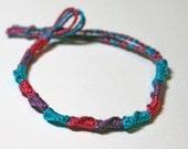 Bisexual Pride Friendship Bracelet French Twist Chinese Staircase