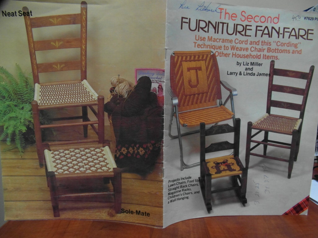 Macrame Lawn Chair Patterns And Instructions Weaving Chair