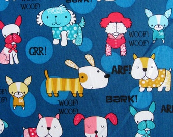 C062 - 1 meter SDLP Cotton Fabric - Dogs (145cm ,230g)