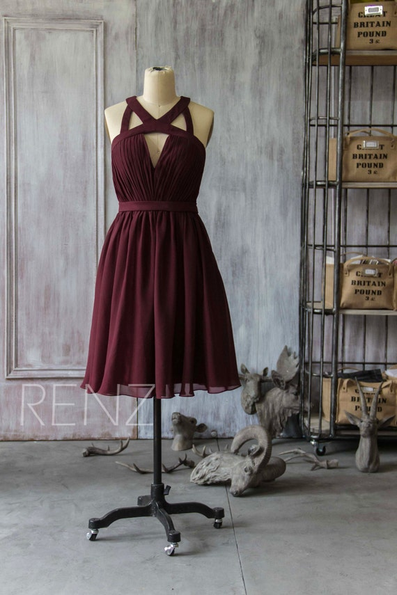 2017 Cabernet Bridesmaid Dress, Chiffon V neck Party Dress, Evening Dress, A line Short Prom Dress, formal Cocktail Dress Knee Length(F046) 2017 Cabernet Bridesmaid Dress, Chiffon V neck Party Dress, Evening Dress, A line Short Prom Dress, formal Cocktail Dress Knee Length(F046) 2017 Cabernet Bridesmaid Dress, Chiffon V neck Party Dress, Evening Dress, A line Short Prom Dress, formal Cocktail Dress Knee Length(F046) 2017 Cabernet Bridesmaid Dress, Chiffon V neck Party Dress, Evening Dress, A line Short Prom Dress, formal Cocktail Dress Knee Length(F046) 2017 Cabernet Bridesmaid Dress, Chiffon V neck Party Dress, Evening Dress, A line Short Prom Dress, formal Cocktail Dress Knee Length(F046) 🔎zoom Request a custom order and have something made just for you. Item details 5 out of 5 stars. (8,237) reviews Shipping & Policies °º©©º°¨¨¨¨¨¨°º©©º°¨¨¨¨¨¨°º©©º°¨¨¨¨¨¨°°º©©º°¨¨¨¨¨¨°º©©º°¨¨¨¨¨¨ Note: Actual color may vary from the color on your screen due to monitor color restrictions. I highly suggest that you get the swatch book before you place your dress order. I cannot be responsible for any color difference if you don't get my swatches. ▓▓▓ 【ITEM INFORMATION】▓▓▓ ※ MATERIAL & COLOR: Velvet Chiffon JYV#16 - Cabernet Here's the link for one more color: 100D Chiffon YW#35 - Coral https://img0.etsystatic.com/142/0/6300657/il_570xN.1144790962_m407.jpg Note: This dress can be made in ANY color of your choice. Here's the link for more color swatches: https://www.etsy.com/listing/203324524/swatch-book-with-over-180-colors?ref=shop_home_active_1 ※ LENGTH: Can be made into knee-length, tea-length or floor-length Note: Custom made doesn't mean no alteration. Length is based on the measurement you send and the design of the dress. We cannot 100% guarantee that the length will be exactly the measurement you send. You may still need a minor alteration to get your desired length. ※ LINING: Fully lined Note: We choose the color of the lining that closely matches the color of the chiffon. 