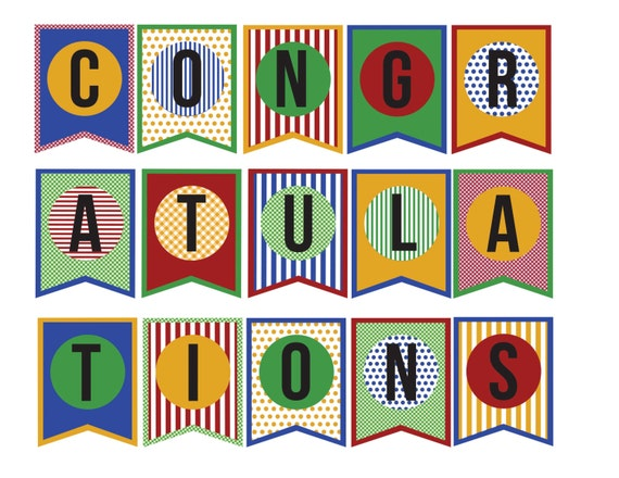 Free Printable Banner Letters Graduation