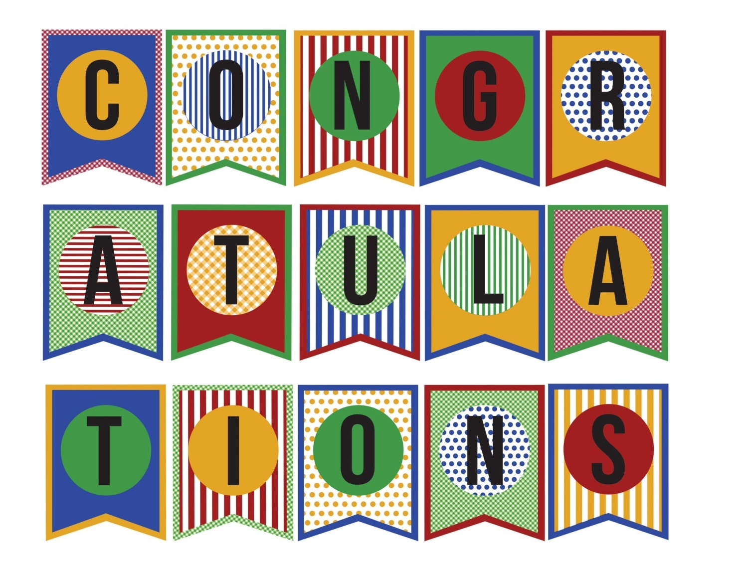 Crafty image for congratulations banner printable