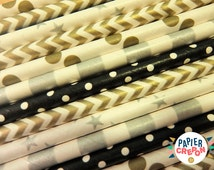 25 Straws PIXIE NIGHT   Straw Mix for fun party anniversary birthday wedding   Papier Crepon