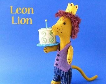 Leon Lion - felt softie pattern (digital PDF pattern)