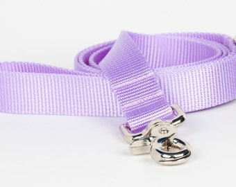 Crew LaLa™ Lavender Naked Webbing Dog Leash
