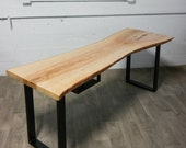 NEW: Live Edge Ash DESK - Natural - Rustic - Modern