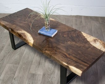 YOUR CUSTOM Bastogne Walnut Wood COFFEE Table - Contemporary - Natural