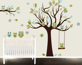 Beautiful Paisley Owl Wall Decal, Childrens Room Vinyl, Nursery Tree, Owl Tree Wall  Decal Part 18
