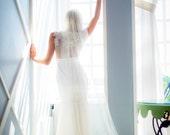 Custom length Tulle Veil- White, Ivory, Bridal Veil, Cathedral Veil, Chapel Length Veil, Fingertip Length Veil