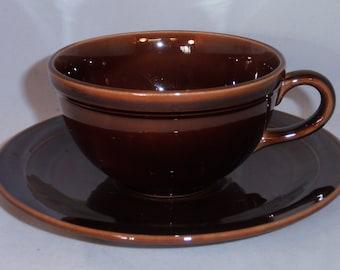 Vernon Kilns Teacup Brown Early California Teacup & Saucer