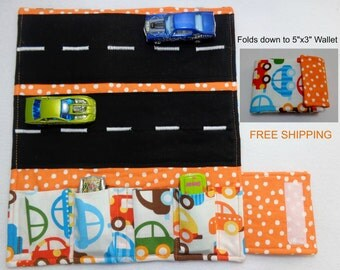 Ready Set Go Cars Print Car Wallet/ Ready to ship/ Free Shipping USPS first class.