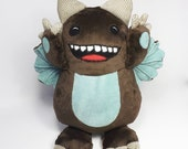 Brown Georgie Monster - soft toy monster