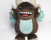 Brown Georgie Monster - soft toy monster