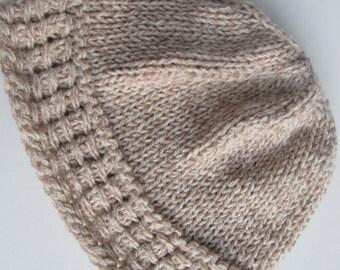 Woolblend Handknit Hat for Women or Teens