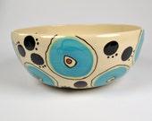 Large Ceramic Serving Bowl, Handmade Salad Bowl, Pottery Serving Bowl
