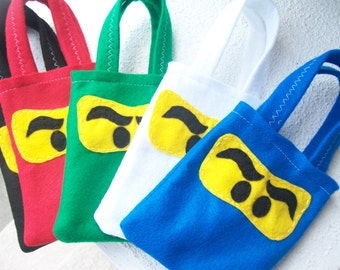 NINJAGO PARTY/ Felt party bags./ for boys and girls/  Set of 6 party favor