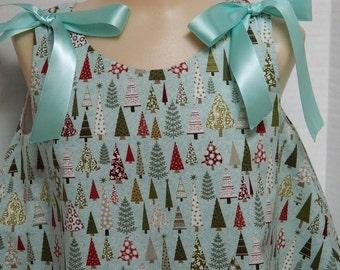 Toddler A-Line Dress - Light Blue Girl's Dress - Size 2 Girl's Dress - Easy On Dress - OOAK Lynne's Designs - Holiday Portrait Clothes