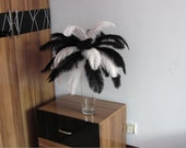 12-14inch long, 1200 black and white Ostrich Feathers for Wedding centerpieces
