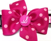 Add a monogram button to your collar or harness