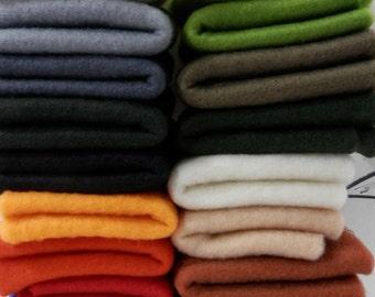 Merino wool pre-felt sheets, pre felt collection, felt assortment, 10 sheets pre-felt for wet felting, needle felting supplies, fiber art