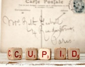Vintage Letter Cubes CUPID Valentines Day