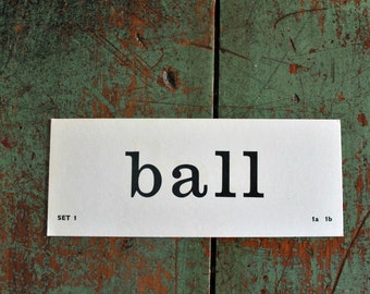 Vintage Flash Card ball