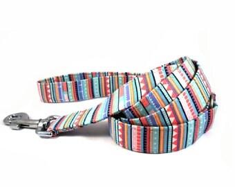 Dog Leash, FUNKY STRIPES, Handmade Dog Leash